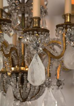 Maison Bagu s Rare Rock Crystal Chandelier - 1897563