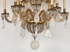 Maison Bagu s Rare Rock Crystal Chandelier - 1897580