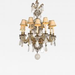 Maison Bagu s Rare Rock Crystal Chandelier - 1899949