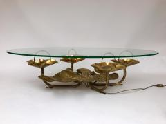 Maison Honor Paris Lightning Coffee Low Table Brass by Maison Honore Paris France 1980s - 523579