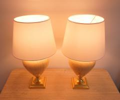 Maison Le Dauphin Pair of Elegant Table Lamps by Maison Le Dauphin France 1970s - 2037995