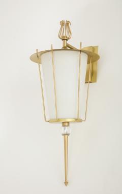 Maison Lunel Maison Lunel Brass Lantern Sconces - 970706