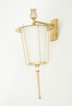 Maison Lunel Maison Lunel Brass Lantern Sconces - 970708