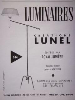 Maison Lunel T 644 floor lamp by Maison Lunel France circa 1950 - 1606191