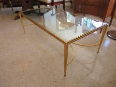 Maison Raphael A French Modern Gilt Iron and Glass Coffee Low Table - 515173