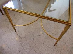 Maison Raphael A French Modern Gilt Iron and Glass Coffee Low Table - 515175