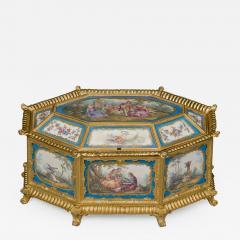 Manufacture Nationale de S vres Sevres Porcelain A Louis XVI Style S vres Style Table Box - 1076809