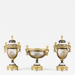 Manufacture Nationale de S vres Sevres Porcelain A Napol on III S vres Style Garniture Set - 988047