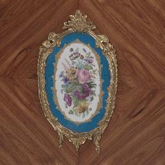 Manufacture Nationale de S vres Sevres Porcelain A Pair of Walnut Side Cabinets - 910812