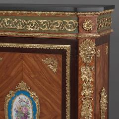 Manufacture Nationale de S vres Sevres Porcelain A Pair of Walnut Side Cabinets - 910813