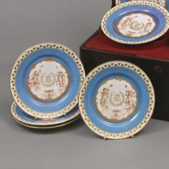 Manufacture Nationale de S vres Sevres Porcelain A Rare Set of Twelve S vres Plates - 1076388