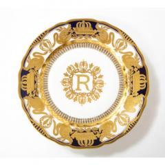 Manufacture Nationale de S vres Sevres Porcelain Exquisite Set of 12 Sevres Porcelain Royal Dinner Plates with R Monogram - 1110910