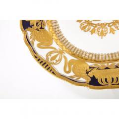 Manufacture Nationale de S vres Sevres Porcelain Exquisite Set of 12 Sevres Porcelain Royal Dinner Plates with R Monogram - 1110915