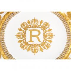 Manufacture Nationale de S vres Sevres Porcelain Exquisite Set of 12 Sevres Porcelain Royal Dinner Plates with R Monogram - 1110918