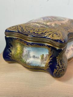 Manufacture Nationale de S vres Sevres Porcelain MONUMENTAL SEVRES PORCELAIN AND ORMOLU BOX - 2028519