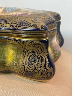 Manufacture Nationale de S vres Sevres Porcelain MONUMENTAL SEVRES PORCELAIN AND ORMOLU BOX - 2028522