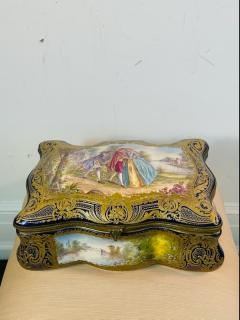 Manufacture Nationale de S vres Sevres Porcelain MONUMENTAL SEVRES PORCELAIN AND ORMOLU BOX - 2028523