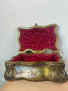 Manufacture Nationale de S vres Sevres Porcelain MONUMENTAL SEVRES PORCELAIN AND ORMOLU BOX - 2028525