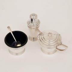 Mappin Webb British Art Deco Silver Plate Cruet Set by Keith Murray for Mappin Webb - 2098854