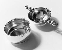 Mappin Webb Sterling Tea Strainer on Stand Mappin and Webb Birmingham 1961 - 2041549