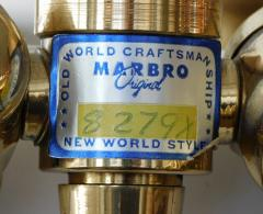 Marbro Lamp Company Marbro Lamp Co 1960s Cut Crystal Baluster form Lamp with Gilt metal Mounts - 1828684