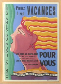 Marcas French Art Deco Vacances Poster by Marsas - 521395