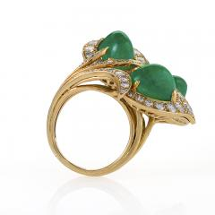 Marchak Gold Ring with Diamonds and Emeralds by Marchak - 1066404