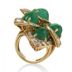 Marchak Gold Ring with Diamonds and Emeralds by Marchak - 1066405