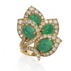 Marchak Gold Ring with Diamonds and Emeralds by Marchak - 1066406