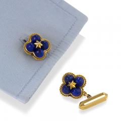 Marchak Marchak Paris Mid 20th Century Lapis Lazuli and Gold Cuff Links - 678926