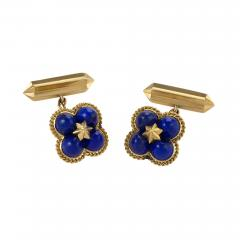 Marchak Marchak Paris Mid 20th Century Lapis Lazuli and Gold Cuff Links - 679572