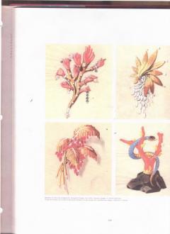 Marchak Surrealist Coral Gem Hand Brooch by Marchack Paris - 183313
