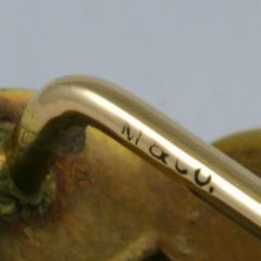 Marcus Co Art Nouveau Opal and Gold Stick Pin - 129767