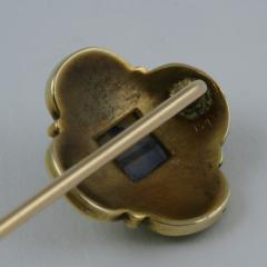 Marcus Co Art Nouveau Opal and Gold Stick Pin - 129768