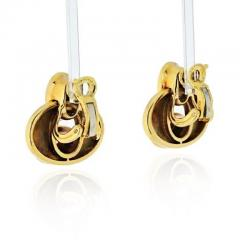 Marina B HONEYCOMB 18K YELLOW GOLD LINK CABOCHON NECKLACE AND EARRINGS JEWELRY SET - 1858283