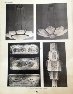 Marius Ernest Sabino Gorgeous Art Deco Chandelier by Sabino - 1786470