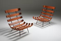 Martin Eisler Carlo Hauner Eisler and Hauner Costela Lounge Chairs 1960s - 1691711