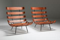 Martin Eisler Carlo Hauner Eisler and Hauner Costela Lounge Chairs 1960s - 1691717