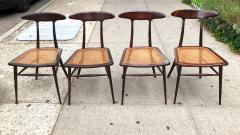 Martin Eisler Carlo Hauner Set of Four Rare Dining Chairs by Martin Eisler and Carlo Hauner for Forma - 1642296