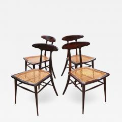 Martin Eisler Carlo Hauner Set of Four Rare Dining Chairs by Martin Eisler and Carlo Hauner for Forma - 1645443