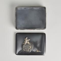 Masayoshi An exquisite miniature Japanese silver and multi metal miniature Koro - 1779383