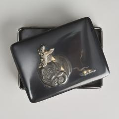Masayoshi An exquisite miniature Japanese silver and multi metal miniature Koro - 1779384