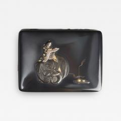 Masayoshi An exquisite miniature Japanese silver and multi metal miniature Koro - 1783291
