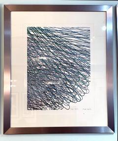 Mashiko Japanese Abstract Expressionist Serigraph Signed Numbered Mashiko  - 1464534