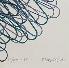 Mashiko Japanese Abstract Expressionist Serigraph Signed Numbered Mashiko  - 1464535