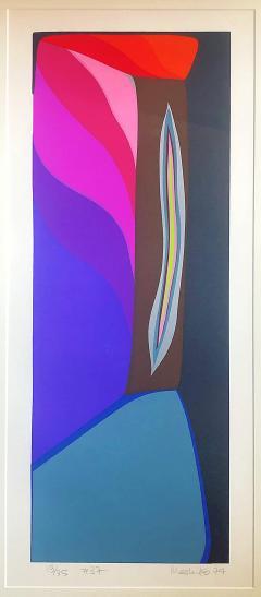 Mashiko Japanese Abstract Expressionist Serigraphs Signed Numbered Mashiko  - 1350003