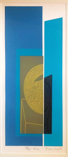 Mashiko Japanese Abstract Expressionist Serigraphs Signed Numbered Mashiko  - 1350004