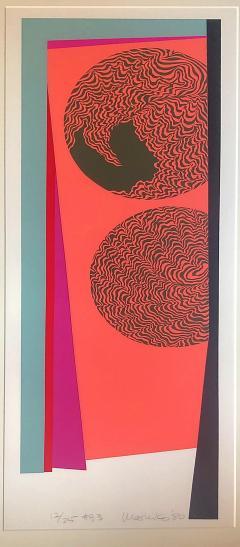 Mashiko Japanese Abstract Expressionist Serigraphs Signed Numbered Mashiko  - 1350006