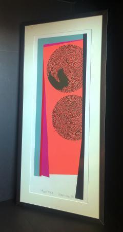 Mashiko Japanese Abstract Expressionist Serigraphs Signed Numbered Mashiko  - 1350025