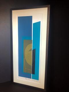 Mashiko Japanese Abstract Expressionist Serigraphs Signed Numbered Mashiko  - 1350033